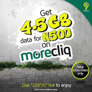 How to Get 4.5GB Data For #500 Only On 9Mobile